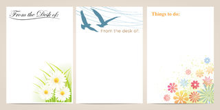 Flower and Bird Note Paper Stock Photo