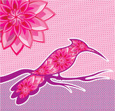 Flower Bird vector design Royalty Free Stock Images