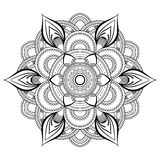 Flower black Mandala. Oriental pattern, vector illustration. Islam, Arabic, Indian ottoman motifs. Coloring book page Royalty Free Stock Photography