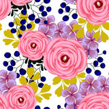 Flower Blossom. Abstract Elegance Seamless Pattern Royalty Free Stock Images