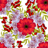 Flower blossom. Abstract elegance seamless pattern Stock Photos