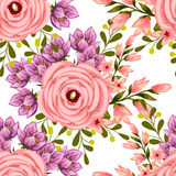 Flower blossom. Abstract elegance seamless pattern Royalty Free Stock Image