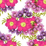 Flower blossom. Abstract elegance seamless pattern Stock Images