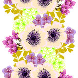 Flower blossom. Abstract elegance seamless pattern Royalty Free Stock Photo
