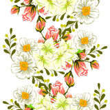 Flower blossom. Abstract elegance seamless pattern Royalty Free Stock Photos