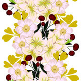 Flower blossom. Abstract elegance seamless pattern Stock Image