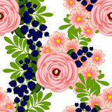 Flower blossom. Abstract elegance seamless pattern Stock Photo