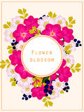 Flower blossom. Romantic botanical invitation. Royalty Free Stock Photo
