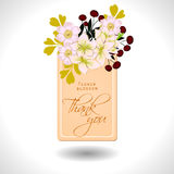 Flower blossom. Romantic botanical invitation. Stock Photos