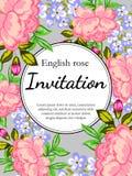 Flower blossom. Romantic botanical invitation. Royalty Free Stock Images