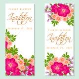 Flower blossom. Romantic botanical invitation. Royalty Free Stock Photos