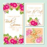 Flower blossom. Romantic botanical invitation. Royalty Free Stock Photography