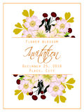 Flower blossom. Romantic botanical invitation. Royalty Free Stock Image