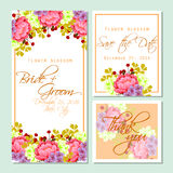Flower blossom. Romantic botanical invitation. Stock Image