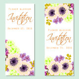Flower blossom. Romantic botanical invitation. Royalty Free Stock Images