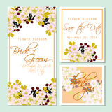 Flower blossom. Romantic botanical invitation. Stock Photography