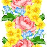 Flower blossom. Romantic botanical pattern. Stock Photos