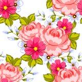 Flower blossom. Romantic botanical pattern. Royalty Free Stock Photography