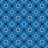 Flower blue seamless tiles vector design surface background royalty free stock images