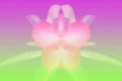 Flower. On blurry color background stock photography