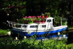 Flower boat Royalty Free Stock Image