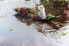 Flower boat Royalty Free Stock Images
