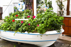 Flower boat Stock Image