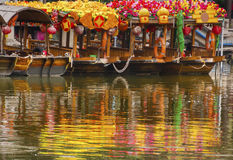 Flower Boats Lychee Bay Luwan Guangzhou Guangdong Province China Stock Image