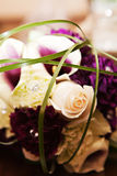 Flower Boquet. An arrangement of flowers including roses and calla lilies Stock Photography