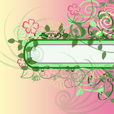 Flower border. Text frame with flower border Royalty Free Stock Image