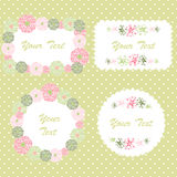 Flower border. Spring decorative border with flowers Royalty Free Stock Image