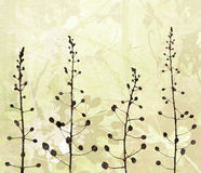 Flower Border Art on Paper Background Stock Images