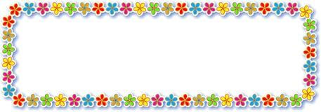 Flower Border Design Royalty Free Stock Photography