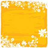 Flower Border / Frame Background in Yellow Orange Colors Stock Image