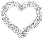 Flower border heart Royalty Free Stock Photos