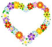 Flower border heart Stock Photos