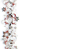 Flower border pattern Stock Image