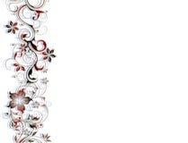 Flower border pattern Stock Image