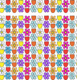 Flower border / seamless pattern Stock Images