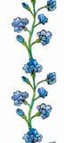 Flower border seamless pattern Royalty Free Stock Photography