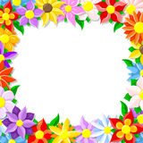 Flower border. Vector illustration of a colorful flower border Royalty Free Stock Photography