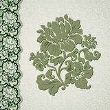 Flower and border vintage lace Stock Photos