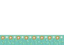 Flower Bordered Background Stock Image