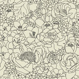 Flower bouquet. Seamless pattern with flowers ornament Stock Images