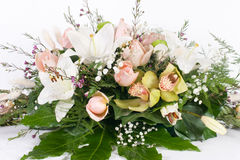 Flower bouquet. Against white background Royalty Free Stock Photos
