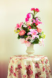 Flower bouquet arrangement in vase Stock Photos