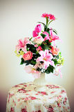 Flower bouquet arrangement in vase Stock Images