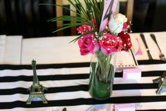 Flower bouquet as center piece Stock Images
