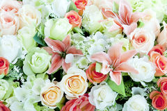 Flower bouquet background Stock Photo