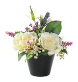 Flower bouquet in black pot Royalty Free Stock Images